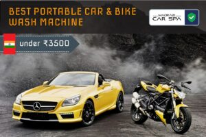 Cover image of portable car and bike wash machine in india