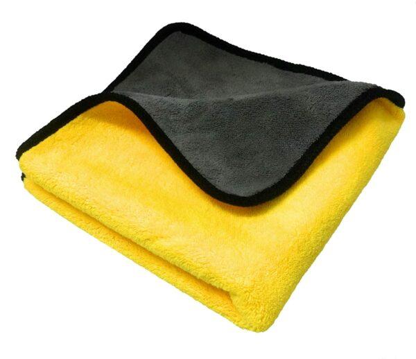 image of sobby extra soft yellow microfiber cloth india
