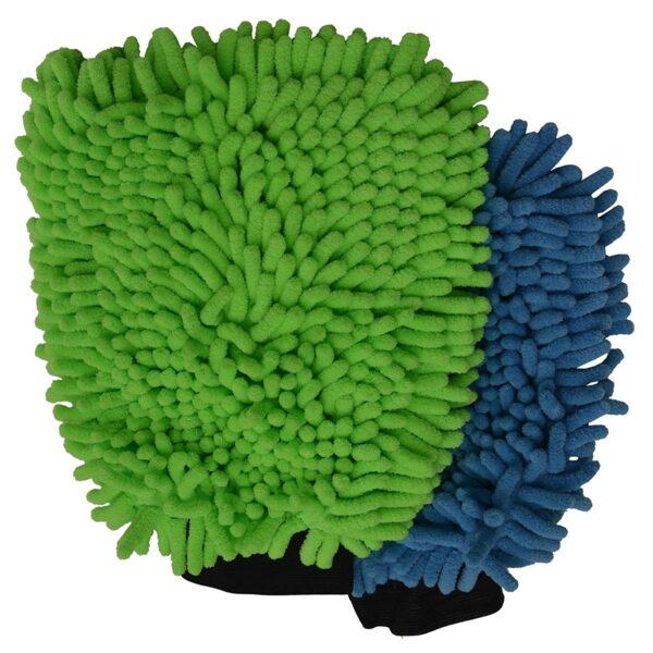 image of sobby mitt glove multi-color microfiber cloth india